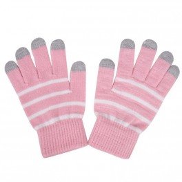 Touchscreen Gloves Blue Stripe