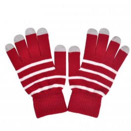 Touchscreen Handschuhe Rosa hell gestreift