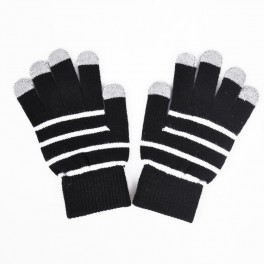 Touchscreen Handschuhe Rot dunkel gestreift