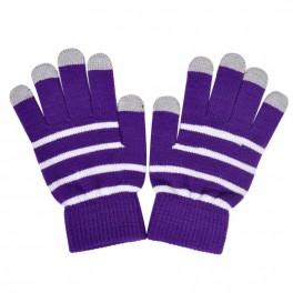 Touchscreen Handschuhe schwarz gestreift
