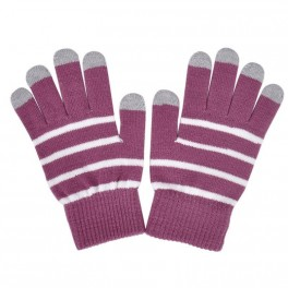 Touchscreen Gloves violet Stripe