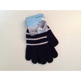 Écran tactile gants rayure bleus