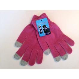 Touchscreen Gloves dark pink
