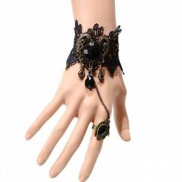 Armband mit Ring Herzform