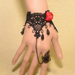 Armband mit Ring Blume