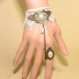 Armband mit Ring Traum in weiss