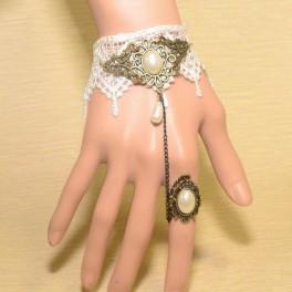 Bracelet avec fleur d'anneau