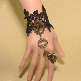 Bracelet avec anneau beauté