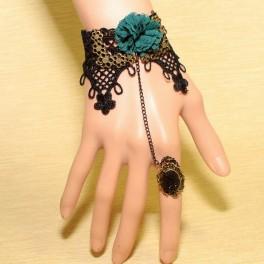 Bracelet avec anneau Black Beauty