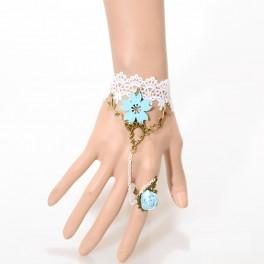 Bracciale con anello mare di fiori