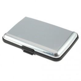 Kreditkartenetui Aluminium glatt, Silber