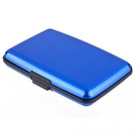 Credit card case aluminum blue