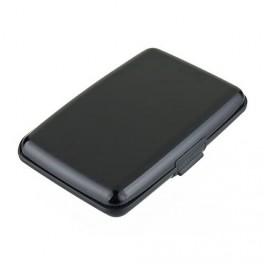 Cassa di carta di credito nero alluminio