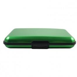 Cassa di carta di credito verde alluminio