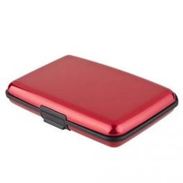 Kreditkartenetui Aluminium Rot